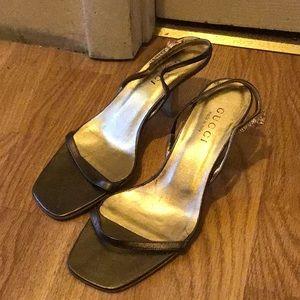 32b42d3745c Gucci kitten heels gold Women s size 8 1 2